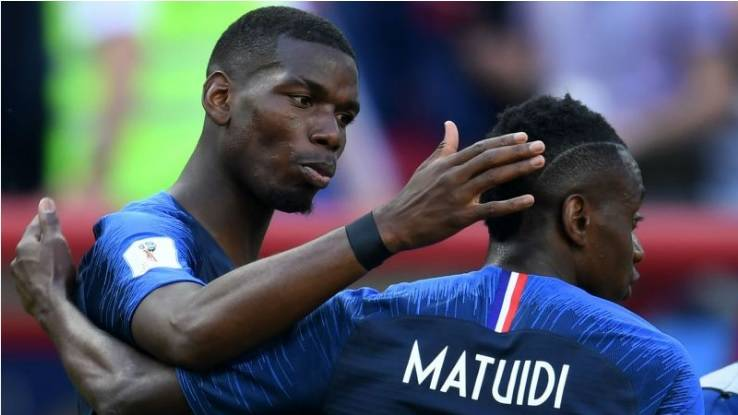 Man Utd's Pogba supports Matuidi by training in Juve shirt