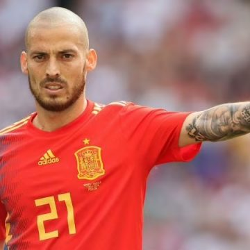 David Silva in action for Spain