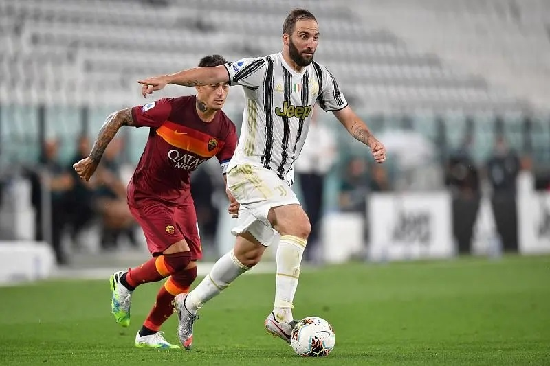 Higuain in action for Juventus