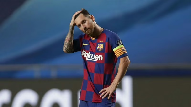 Lionel Messi following Barcelona's Champions League exit