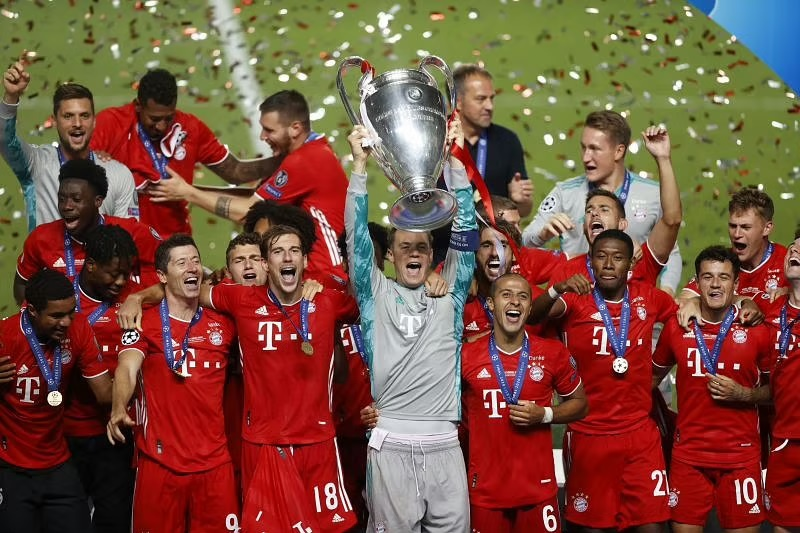 Manuel Neuer captained Bayern Munich to the treble in the 2019-20 season