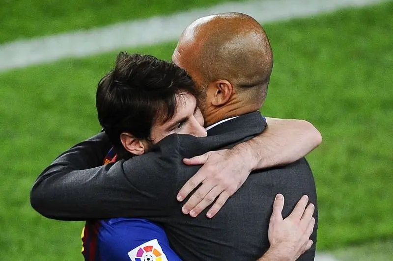 Pep Guardiola has an excellent relationship with Lionel Messi
