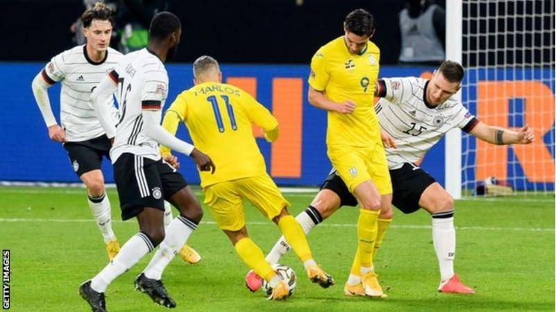Ukraine lost 3-1 to Germany in the Nations League on Saturday
